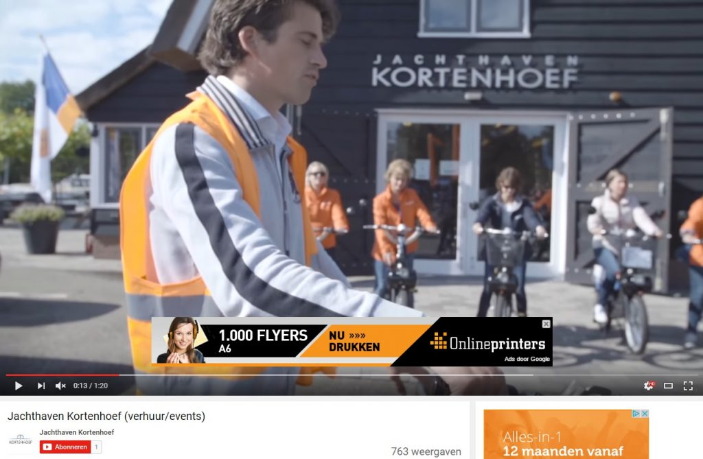 jachthaven kortenhoef Youtube advertenties weigeren
